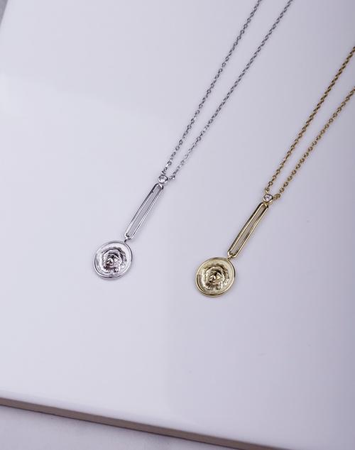 Lion Drop Charm Necklace