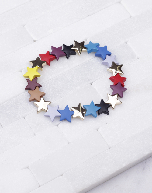 Star Lacquered Stretch Bracelet