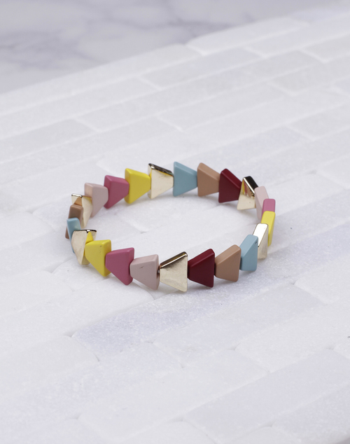 Tri Lacquered Stretch Bracelet