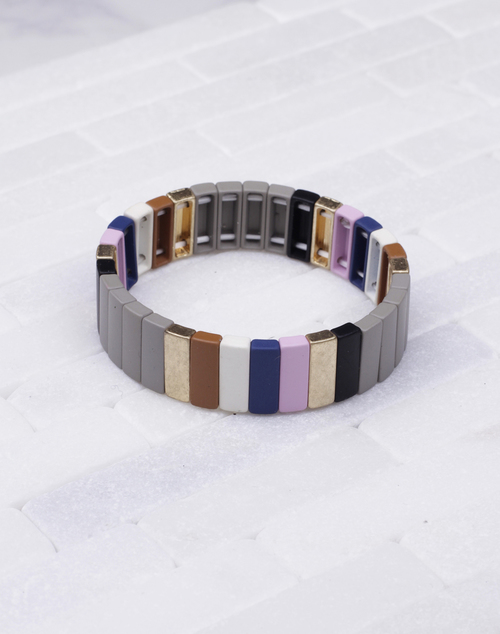Med Lacquered Stretch Bracelet