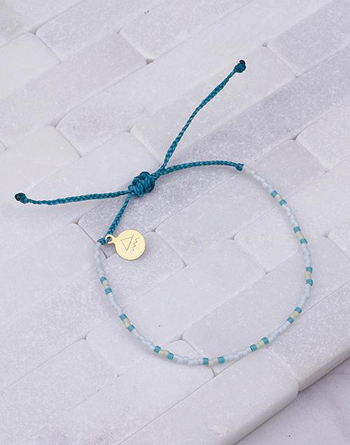 Teal & Pineapple Two Tone Dot Bracelet