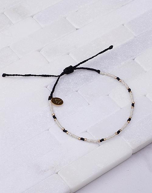 Gold & Black Two Tone Dot Bracelet