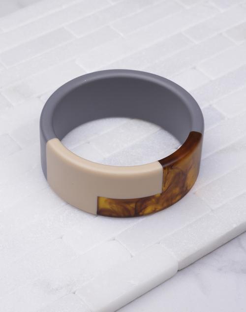 Wide Acryllic Resin Bangle