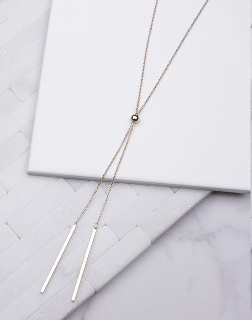 Long Simple Pull Bead Necklace