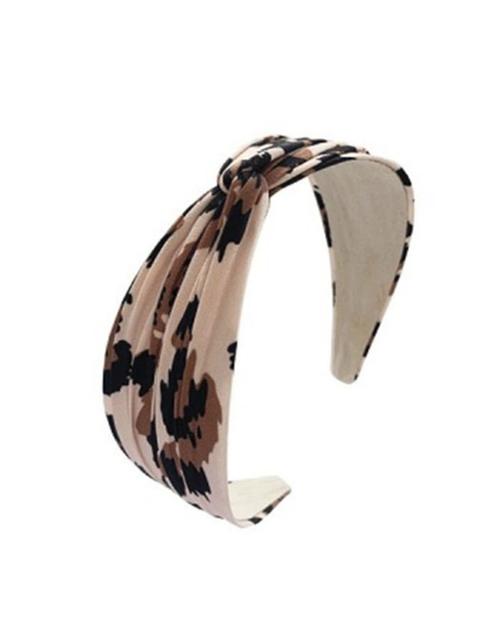 Hard Turban Style Leopard Headband