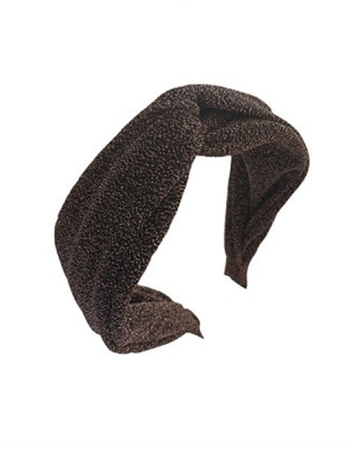 Lurex Dark Brown Knot Headband