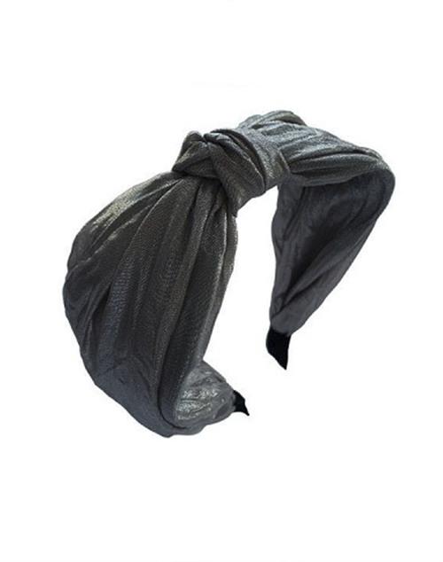 Metallic Knot Headband - Dark Grey