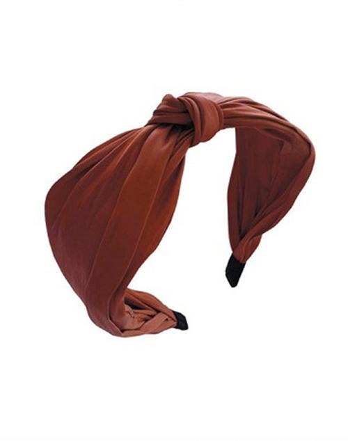 Simple Knot Headband Burnt Orange
