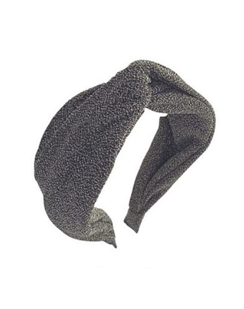 Lurex Silver Knot Headband