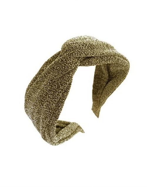 Lurex Gold Knot Headband