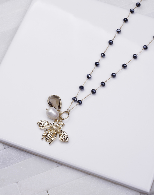Bee Long Necklace