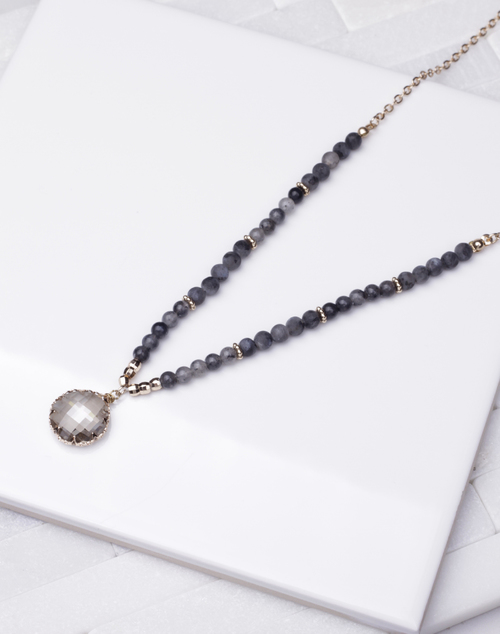 Short Beaded Crystal Necklace