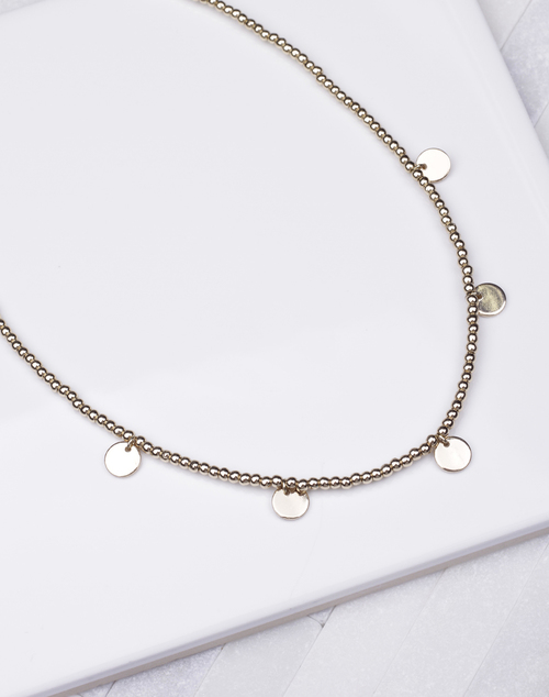 Ball Bead Disc Choker