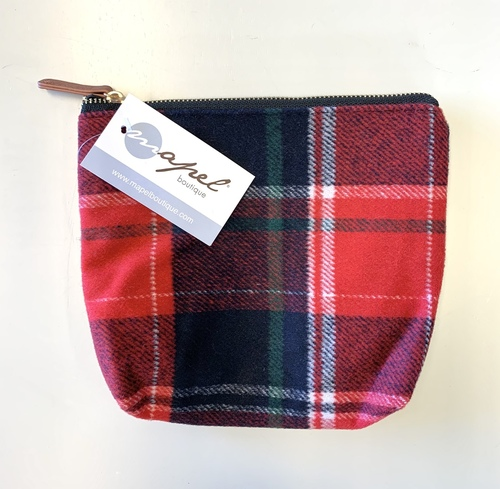 Red & Blue Plaid Small Pouch