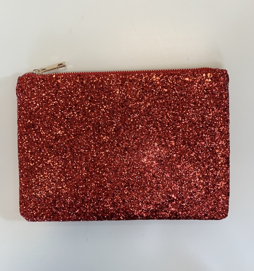 Red Sparkle Pouch