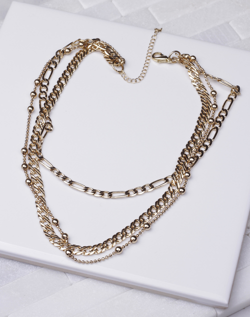 Multi Short Chain Layered Necklace