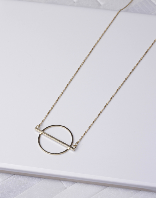 Open Circle Bar Necklace