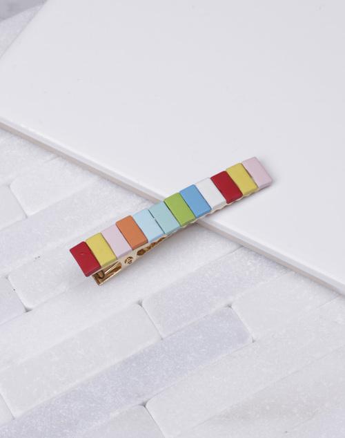 Rectangle Rainbow Hair Clip