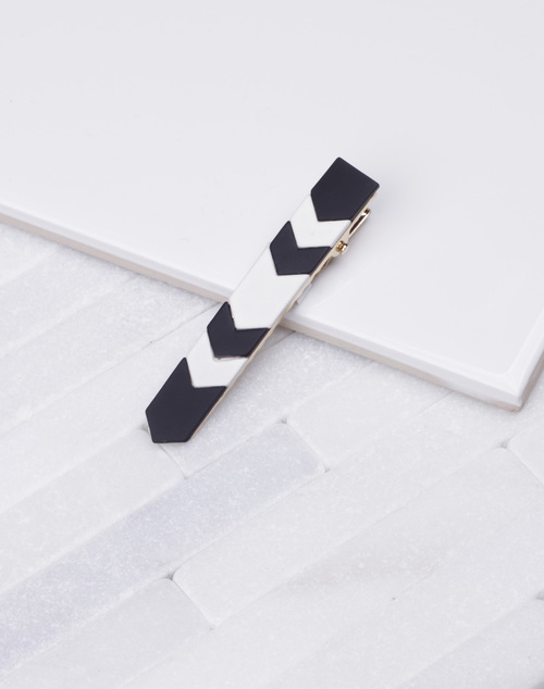 Arrow Black and White Hair Clip