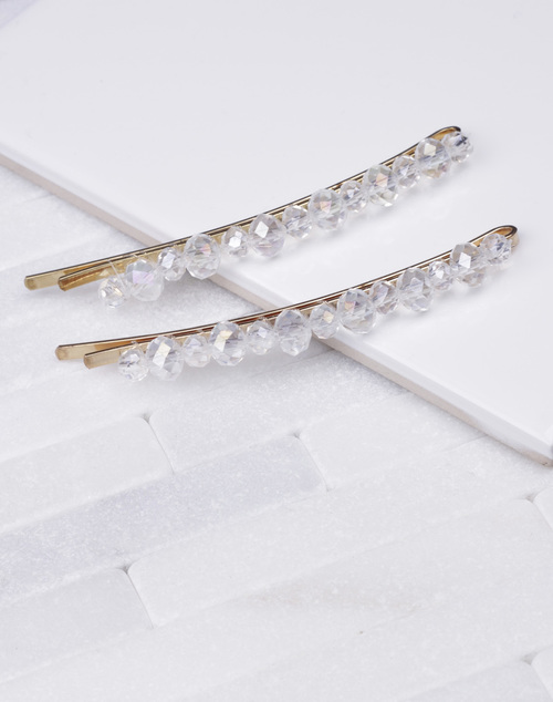 Crystal Bead Hair Clip Set