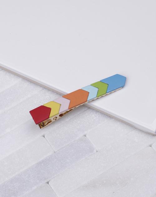Arrow Bright Matte Colored Hair Clip