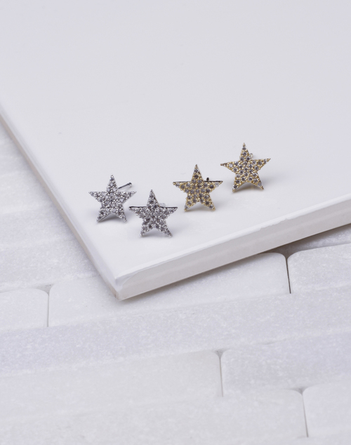 Medium CZ Star Stud