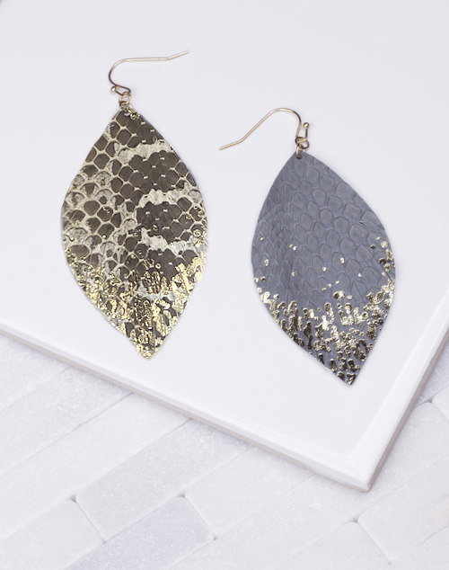 Snakeskin Gold Flec Dangle