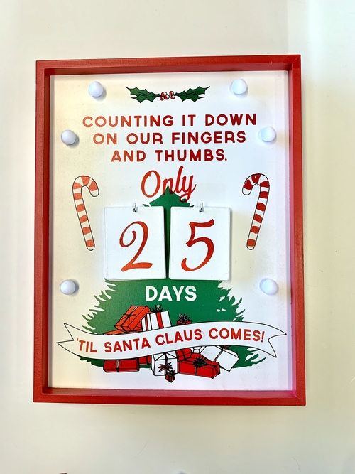 Christmas Countdown Sign LED