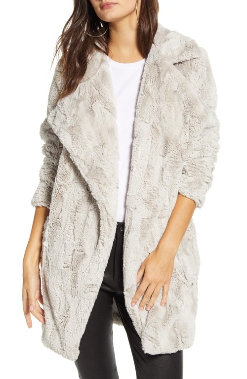 Shear Factor Faux Fur Coat