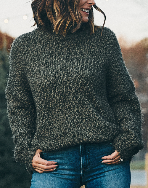 Fuzzy Turtle Neck Sweater