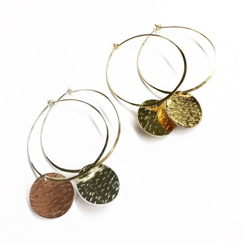 Agapantha Cassidy Medium Sterling Silver Earrings
