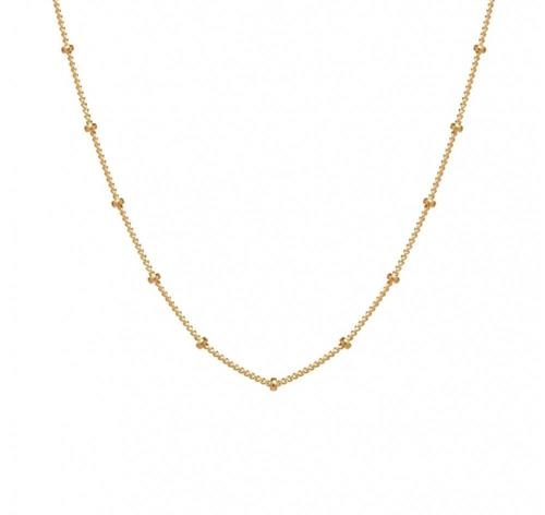 "Agapantha Leia Astral 16"" Gold Fill Chain"