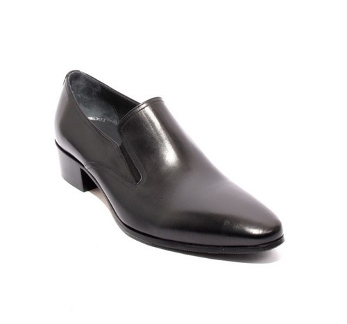 Black Leather / Elastic / Classic Shoes