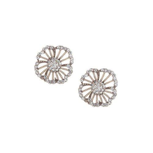 Vintage Floret Stud earring w/ Swavorski Crystal