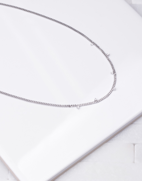 Simple Chain Mini CZ Drop Choker