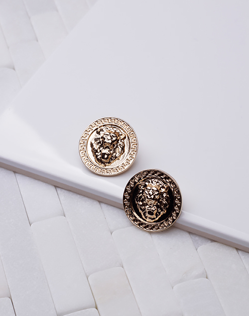 Large Coin Stud - Gold