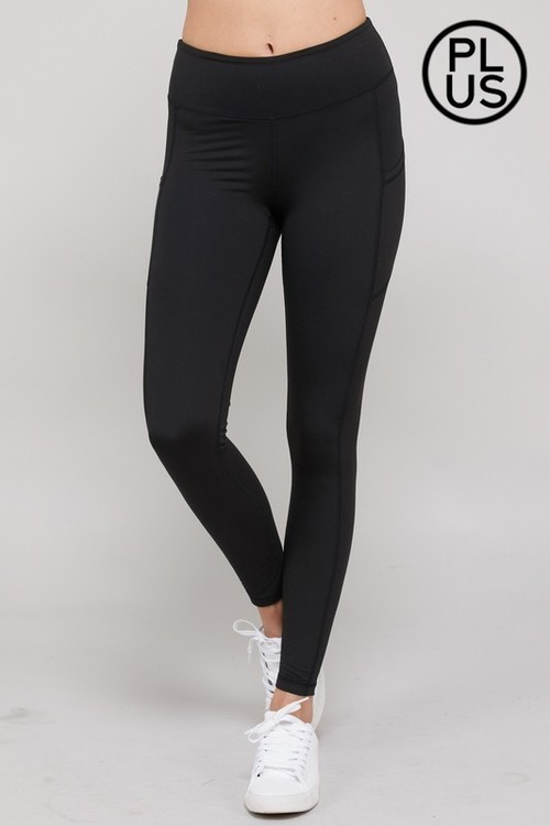 Black Side Pocket Yoga Leggings