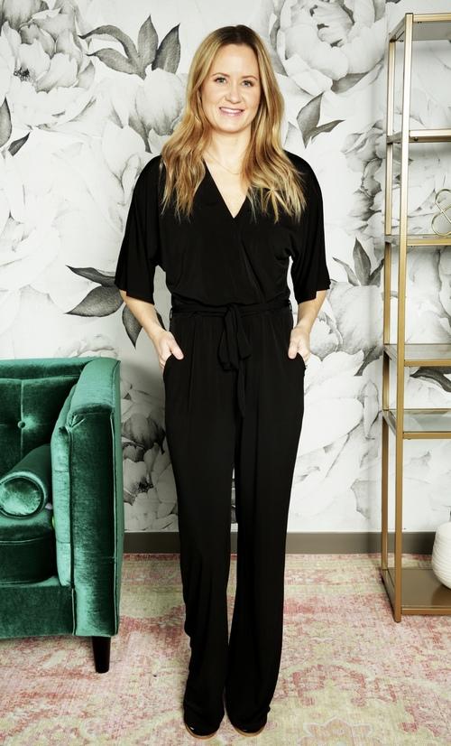 Black Ity Kimono Pantsuit