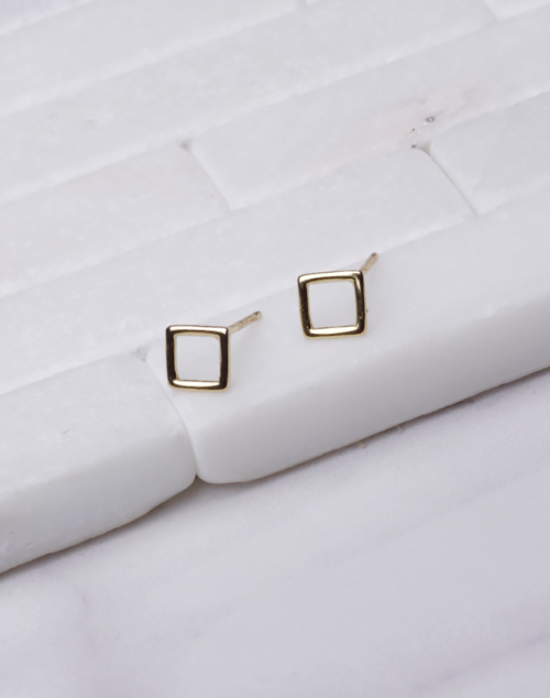Open Square Stud