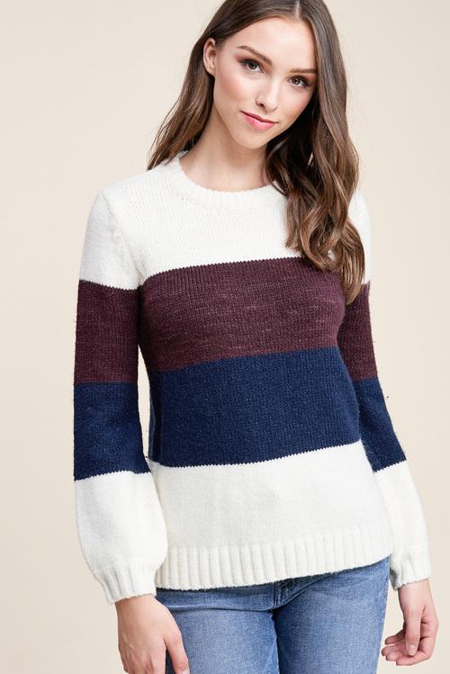 Elisa Rib Banded Pullover