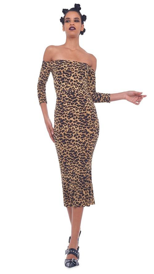 Off Shoulder Fishtail Dress to Midcalf