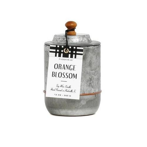 Homestead Galvanized Orange Blossom Candle