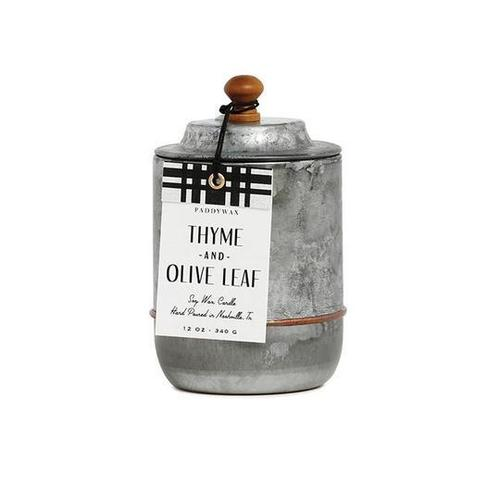 Homestead Galvanized Thyme & Olive Leaf Candle