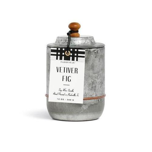 Homestead Galvanized 12 oz Vetiver & Fig Candle