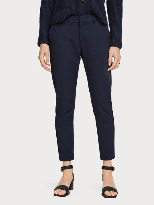 Tailored Stretch Pant with Piping