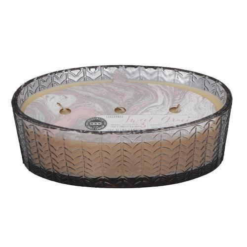 Oval Glass 3 Wick Sweet Grace Candle