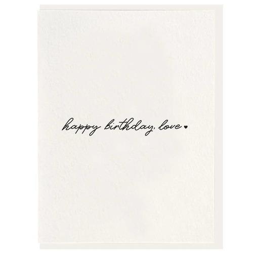Birthday Love Letterpress