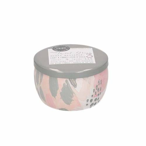 Social Rose Pink Pattern Candle Sweet Grace