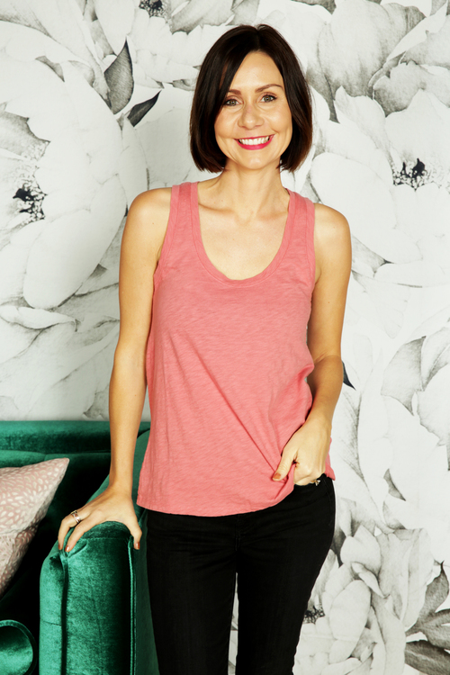 The Slate Rose Cotton Slub Scoop Tank