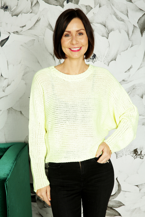 Neon Yellow Cipriani Sweater